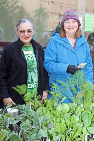 Plant sales: Lydia & Kathy